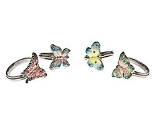 Godinger Butterfly Napkin Rings, Set of 4