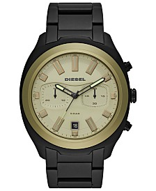 Diesel Men's Chronograph Tumbler Black Stainless Steel Bracelet Watch 48mm