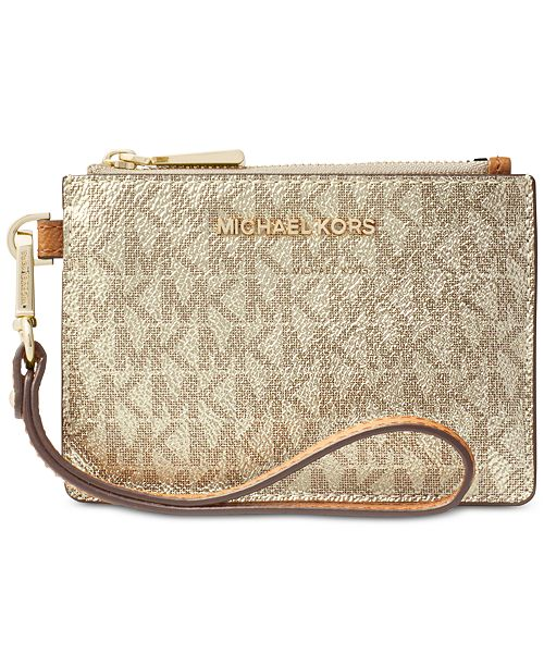 9726781be143 Michael Kors Boxed Metallic Signature Coin Purse   Reviews ...