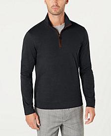 Tasso Elba Men's Piped 1/4-Zip Sweater, Created for Macy's