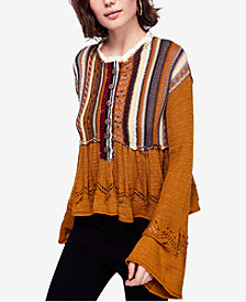 Free People Meadow Lakes Bell-Sleeve Sweater