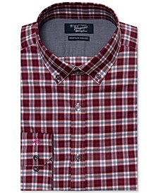 Men's Heritage Slim-Fit Comfort Stretch Plaid Dress Shirt