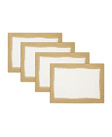 Metallic Brushstroke Placemat 4 Pc Set