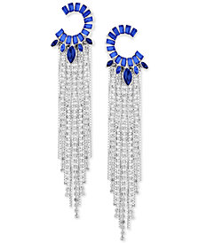 GUESS Crystal Fringe Chandelier Earrings