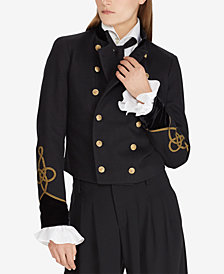 Polo Ralph Lauren Velvet-Trim Military-Inspired Jacket