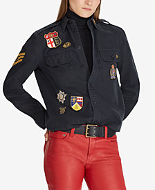 Polo Ralph Lauren Patchwork Twill Military-Inspired Cotton Shirt