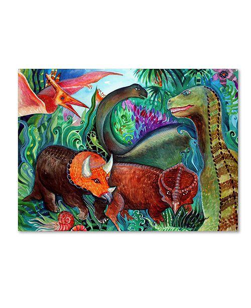 "Trademark Global Oxana Ziaka 'Dinos' Canvas Art - 19"" x 14"" x 2"""