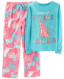Carter's Little & Big Girls 2-Pc. Feline Fabulous Pajama Set
