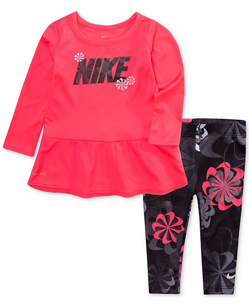 Nike Baby Girls 2-Pc. Peplum Top   Leggings Set - Sets   Outfits ... 620328958