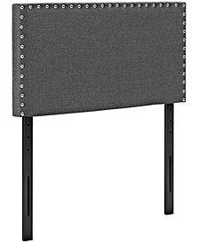 Phoebe Twin Upholstered Fabric Headboard