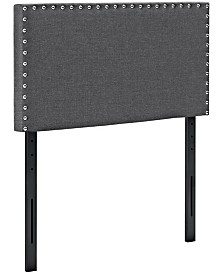 Phoebe Twin Upholstered Fabric Headboard