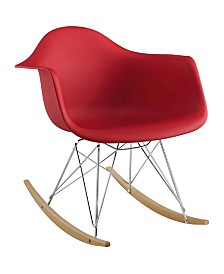 Modway Rocker Plastic Lounge Chair