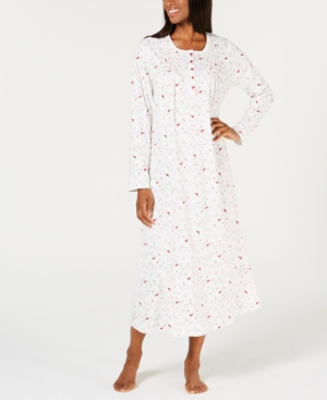 Vintage Nightgowns, Pajamas, Baby Dolls, Robes Charter Club Printed Long Cotton Nightgown Created for Macys $17.93 AT vintagedancer.com