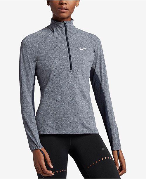 35b9627b8 Nike Pro Warm Half-Zip Training Top & Reviews - Tops - Women - Macy's