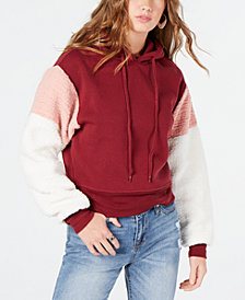 Self Esteem Juniors' Faux Fur-Sleeve Sweatshirt