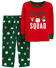 Carter's Toddler Boys 2-Pc. Holiday Squad Santa Fleece Pajama Set