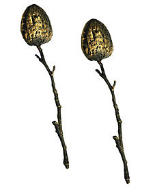 Michael Michaud Walnut Spoons - Set Of 2