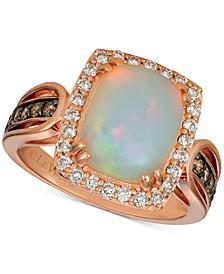 Opal (2 ct. t.w.) & Diamond (1/2 ct. t.w.) Ring in 14k Rose Gold