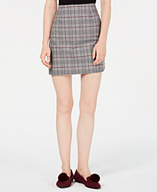 Love, Fire Plaid Mini Skirt