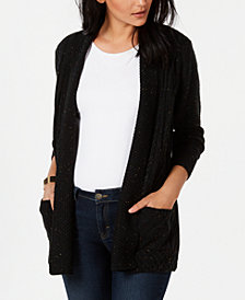 NY Collection Petite Cable-Knit Cardigan