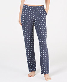 Alfani Essentials Printed Knit Pajama Pants, Created for Macy's