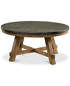 Breslin Bluestone Round Coffee Table