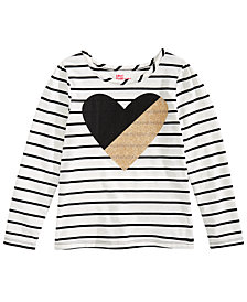 Epic Threads Toddler Girls Striped Graphic-Print T-Shirt, Created for Macy's