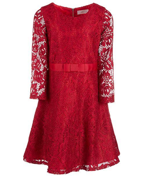 1e50506909d8 Us Angels Big Girls Glitter Lace Dress   Reviews - Dresses - Kids ...