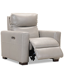 "Clynton 36"" Leather Dual Power Recliner with USB Power Outlet"