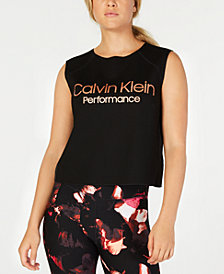 Calvin Klein Performance Logo Cropped Tank Top