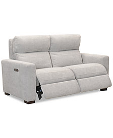 "Clynton 63"" Fabric Dual Power Loveseat with USB Power Outlet"