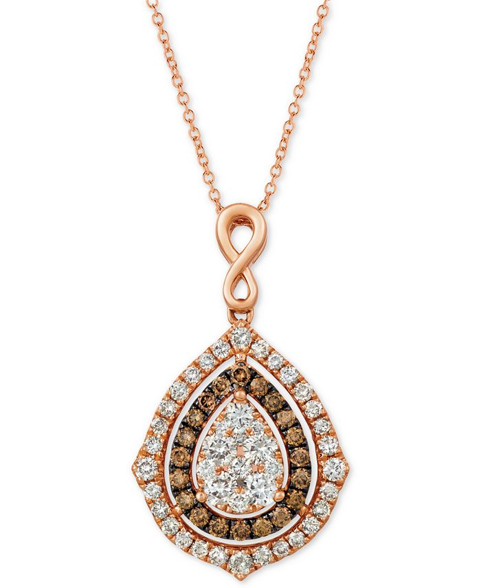 """Le Vian - Nude Diamonds® & Chocolate Diamonds® Fancy 18"""" Pendant Necklace (1-5/8 ct. t.w.) in 14k Rose, Yellow or White Gold"""