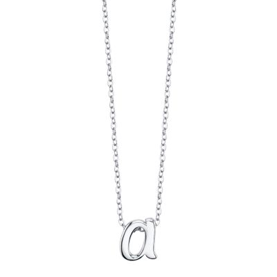"Image of Unwritten Initial 18"" Pendant Necklace in Sterling Silver"