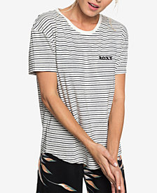 Roxy Juniors' Passion Cocktail Striped Graphic T-Shirt