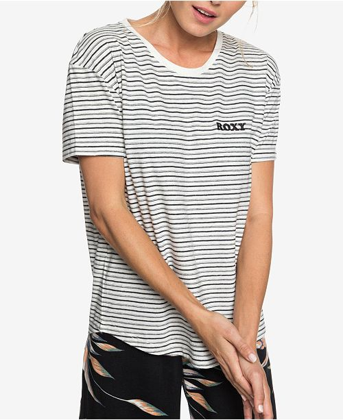 Roxy Juniors  Passion Cocktail Striped Graphic T-Shirt - Tops ... 6f085a741