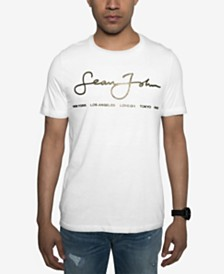 Sean John Men's Signature Script T-Shirt, Created for Macy's