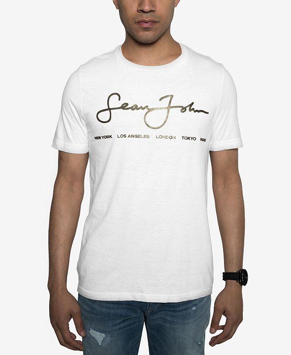 Sean John Men's Big and Tall Script Tee