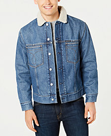 Calvin Klein Jeans Men's Sherpa Lined Denim Jacket