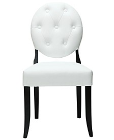 Button Dining Vinyl Side Chair