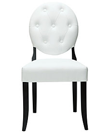 Modway Button Dining Vinyl Side Chair