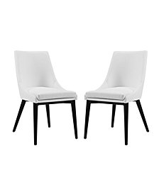 Modway Viscount Dining Side Chair Vinyl Set of 2
