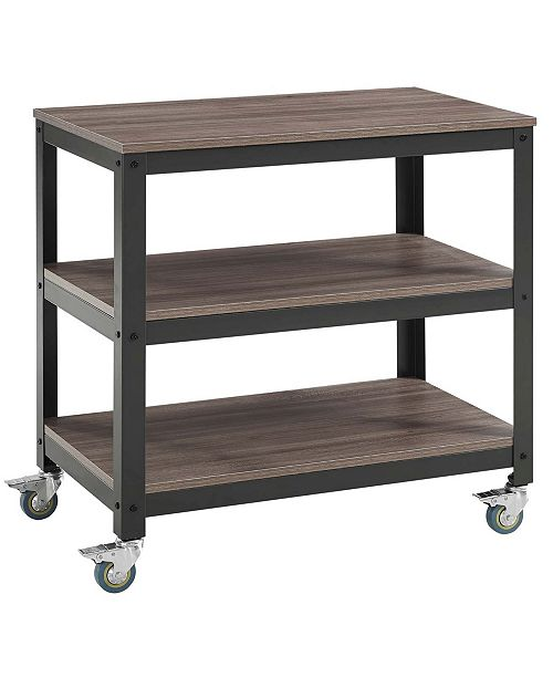Modway Vivify Tiered Serving Stand Walnut