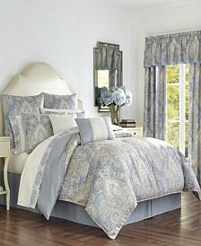 Royal Court Palermo Blue Queen Comforter Set