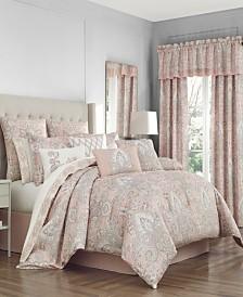 Royal Court Sloane Blush Queen Comforter Set