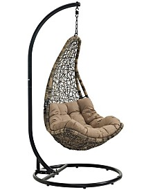 Modway Abate Outdoor Patio Swing Chair With Stand White