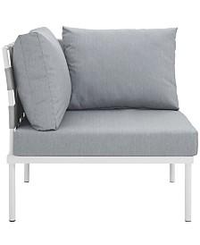 Modway Harmony Outdoor Patio Aluminum Corner Sofa White
