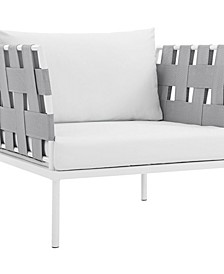 Harmony Outdoor Patio Aluminum Armchair White