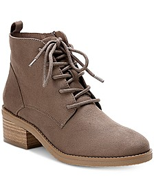 Rizio Lace-Up Ankle Booties, Created for Macy's
