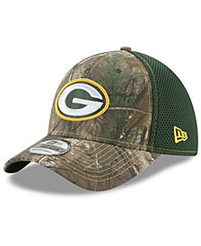 New Era Green Bay Packers Realtree Camo Team Color Neo 39THIRTY Cap