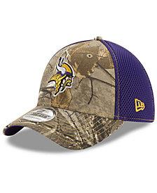 New Era Minnesota Vikings Realtree Camo Team Color Neo 39THIRTY Cap